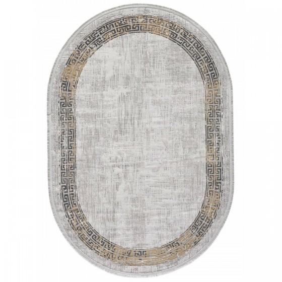 Gümüşsuyu Halı Black&Brown 11298 S10 Oval Sarı