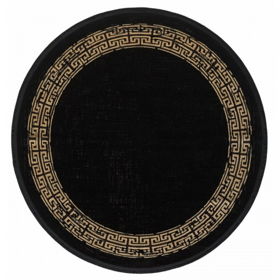 Gümüşsuyu Halı Black&Brown 11298 B10 Daire Siyah