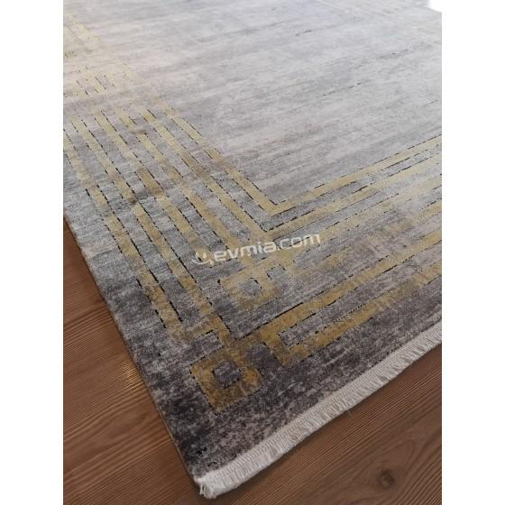 Angora Halı Decorium 9369R Gri - Sarı