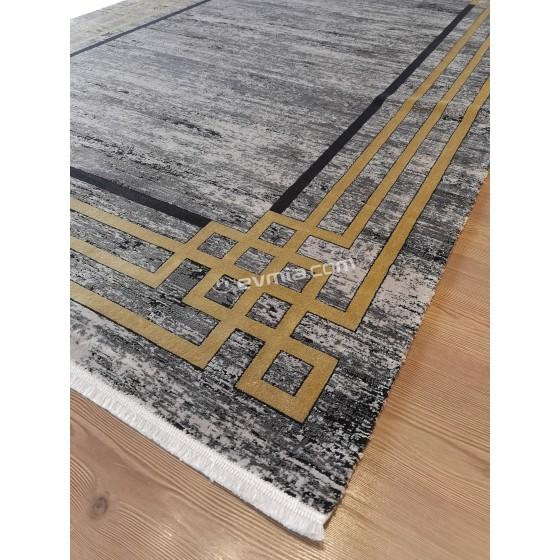 Angora Halı Decorium 9376M Siyah - Sarı